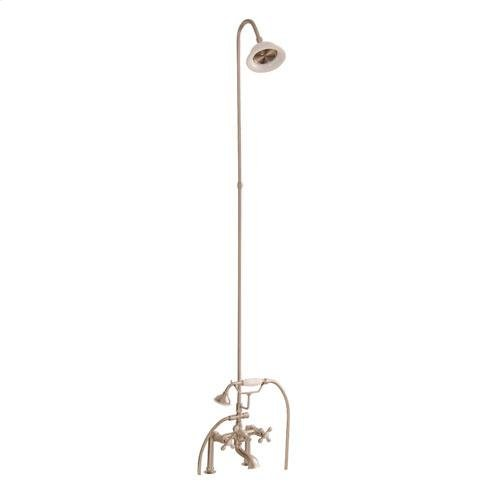 Tub/Shower Converto Unit - Elephant Spout, Riser, Showerhead - Cross / Brushed Nickel