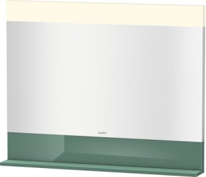 Mirror With Shelf Below, Jade High Gloss Lacquer Product Image