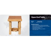 Open End Table- Traditional
