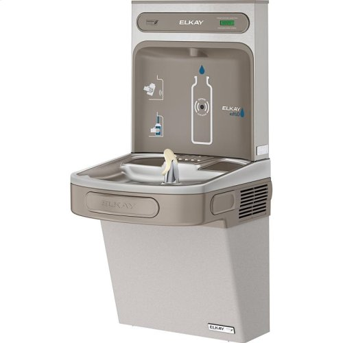 Elkay EZH2O Bottle Filling Station & Single ADA Cooler, High Efficiency Non-Filtered 8 GPH Light Gray