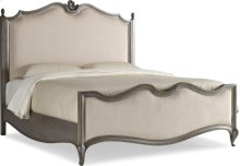 Paris Parisian Upholstered Bed (Queen)