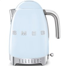Smeg 50s Retro Style Design Aesthetic Electric Variable Temperature Kettle, Pastel Blue