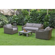 Renava Sapelo Outdoor Beige Wicker Sofa Set