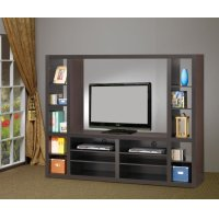 Contemporary Cappuccino Entertainment Unit Product Image