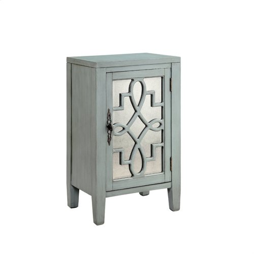 Leighton 1-door Cabinet In Blue-grey