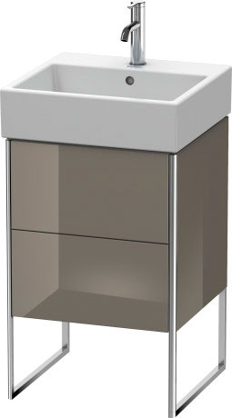 Vanity Unit Floorstanding, Flannel Gray High Gloss Lacquer