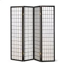 Transitional Black Four-panel Screen Product Image