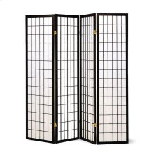 Transitional Black Four-panel Screen