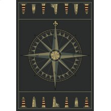 Contours Compass Rose S Blue Rugs