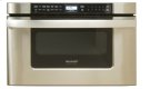 24 in. 1.2 cu. ft. 1000W Sharp Easy Open Stainless Steel Microwave Drawer Oven (KB6524PS) Product Image