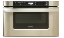 24 in. 1.2 cu. ft. 950W Sharp Easy Open Stainless Steel Microwave Drawer Oven (KB6524PS)
