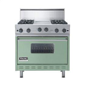 """Sage 36"""" Open Burner Commercial Depth Range - VGRC (36"""" wide, four burners 12"""" wide griddle/simmer plate)"""