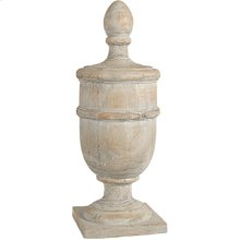 "73539  8x8x22"" Chester Finial Decorative Accent, Large 2EA/CTN"