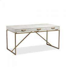 Atherton Shagreen Desk - Bone