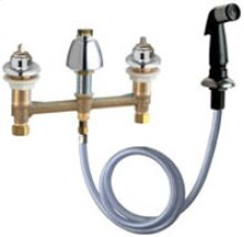 Concealed Sink Hot and Cold Water Faucet with Side Spray