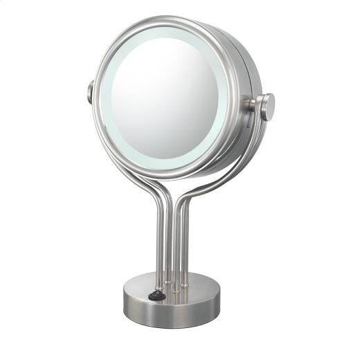 71445 Contemporary Four Post Vanity Mirror