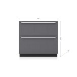 "SUB-ZERO36"" Designer Refrigerator/Freezer Drawers - Panel Ready"