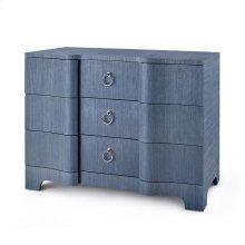 Bardot Large 3-Drawer, Navy Blue