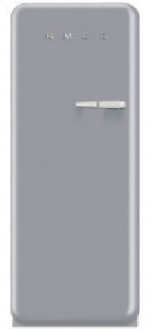50'S Style Refrigerator with ice compartment, Silver, Left hand hinge