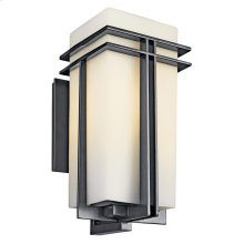 "Tremillo Collection Tremillo 20"" Outdoor Fluorescent Wall Light- Black"