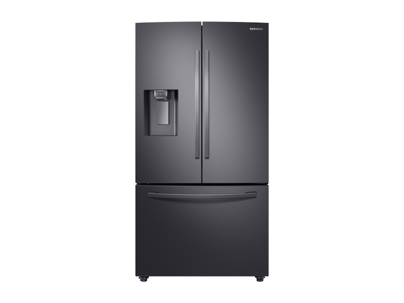 Samsung23 Cu. Ft. 3-Door French Door, Counter Depth Refrigerator With Coolselect Pantry™ In Black Stainless Steel
