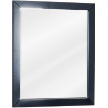 """24"""" x 28"""" Black mirror with beveled glass"""
