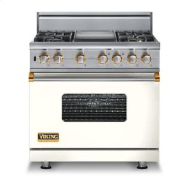 """36"""" Custom Sealed Burner Self-Cleaning Range, Natural Gas, Brass Accent"""