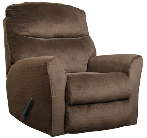 Signature Design by Ashley Cossette Rocker Recliner in Chocolate Fabric [FSD-1069REC-CHO-GG]