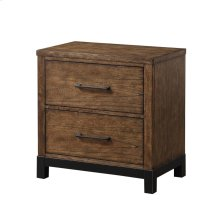 Emerald Home Perspective 2 Drawer Nightstand Coffee Bean B257-04