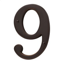 Venetian Bronze House Number - 9