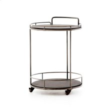 Lena Small Bar Cart-black Slate