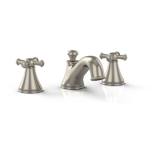 Vivian Widespread Lavatory Faucet with Cross Handles - Brushed Nickel