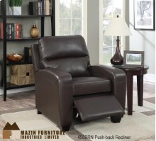 Brown Push Motion Accent Chair