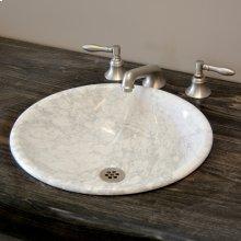Self-rimming Sink Carrara Marble