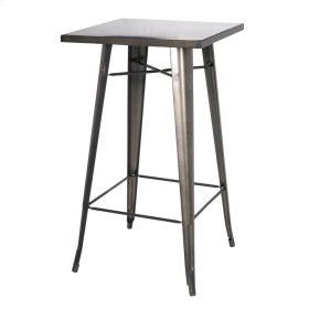 Metropolis KD Metal Bar Table, Gunmetal