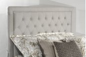 Kaylie Upholstered Panel Footboard - King - Dove Gray