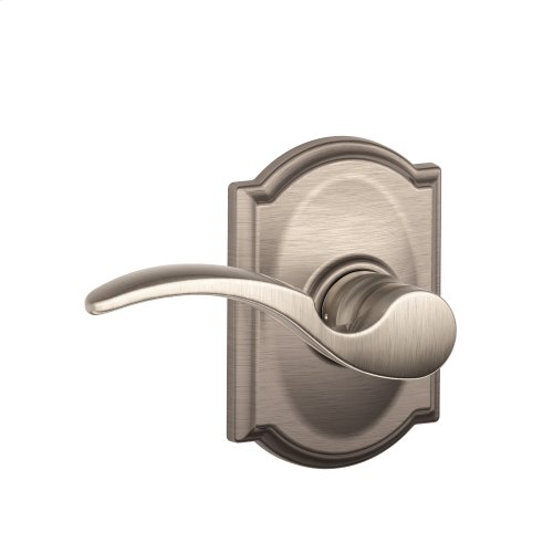St. Annes Lever with Camelot trim Hall & Closet Lock - Satin Nickel