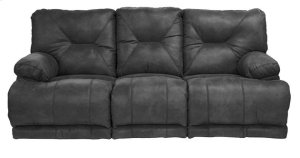 "Power ""Lay Flat"" Recl Sofa w/3x DDT - Slate"