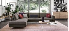 Open base modular sofa