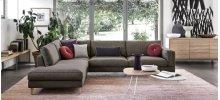Open base modular sofa