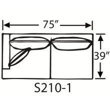 Sectional Component-One Arm Full Sleeper