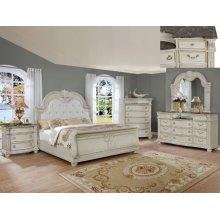 Crown Mark B1630 Stanley Antique White King Bedroom