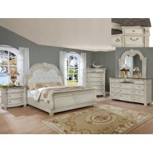 Crown Mark B1630 Stanley Antique White King Bedroom