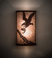 "12"" Wide Strike of the Eagle Wall Sconce"