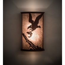 """12"""" Wide Strike of the Eagle Wall Sconce"""