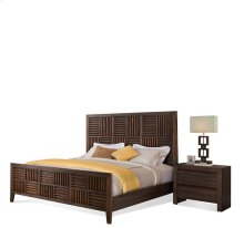 Modern Gatherings Full/Queen Parquet Headboard Brushed Acacia finish