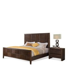 Modern Gatherings California King Parquet Bed Rails Brushed Acacia finish