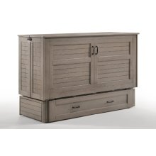 Poppy Murphy Cabinet Bed in Brushed Driftwood finish