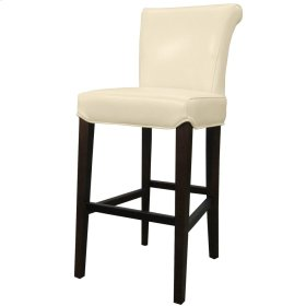 Bentley Leather Counter Stool, Beige