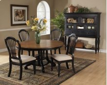 Wilshire 5pc Round Dining Set Rubbed Black